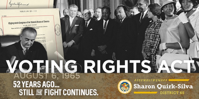 52nd Anniversary Of The Voting Rights Act Official
