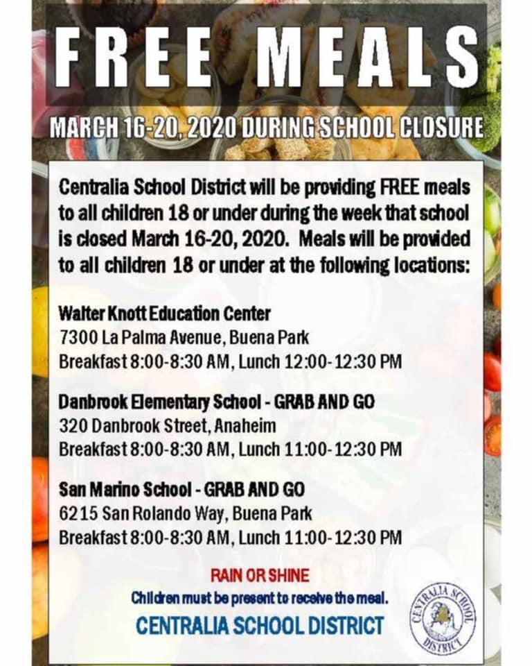 Centralia School District Free Meals