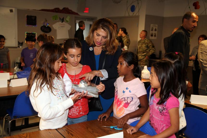 Assemblywoman Sharon Quirk-Silva at Starbase Academy