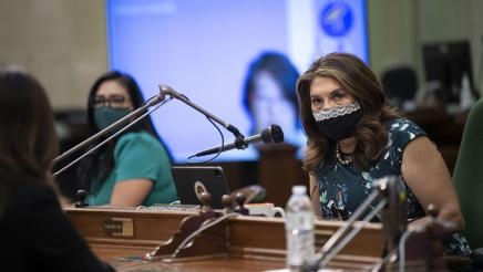 Assemblywoman asks questions to Dr. Pan